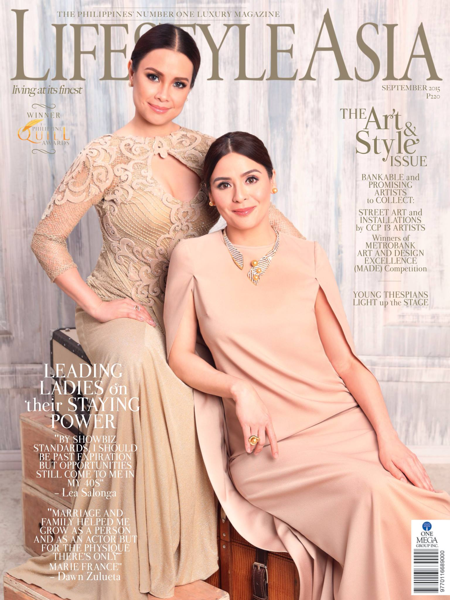 Lea Salonga and Dawn Zulueta: Lifestyle Asia Cover for September 2015